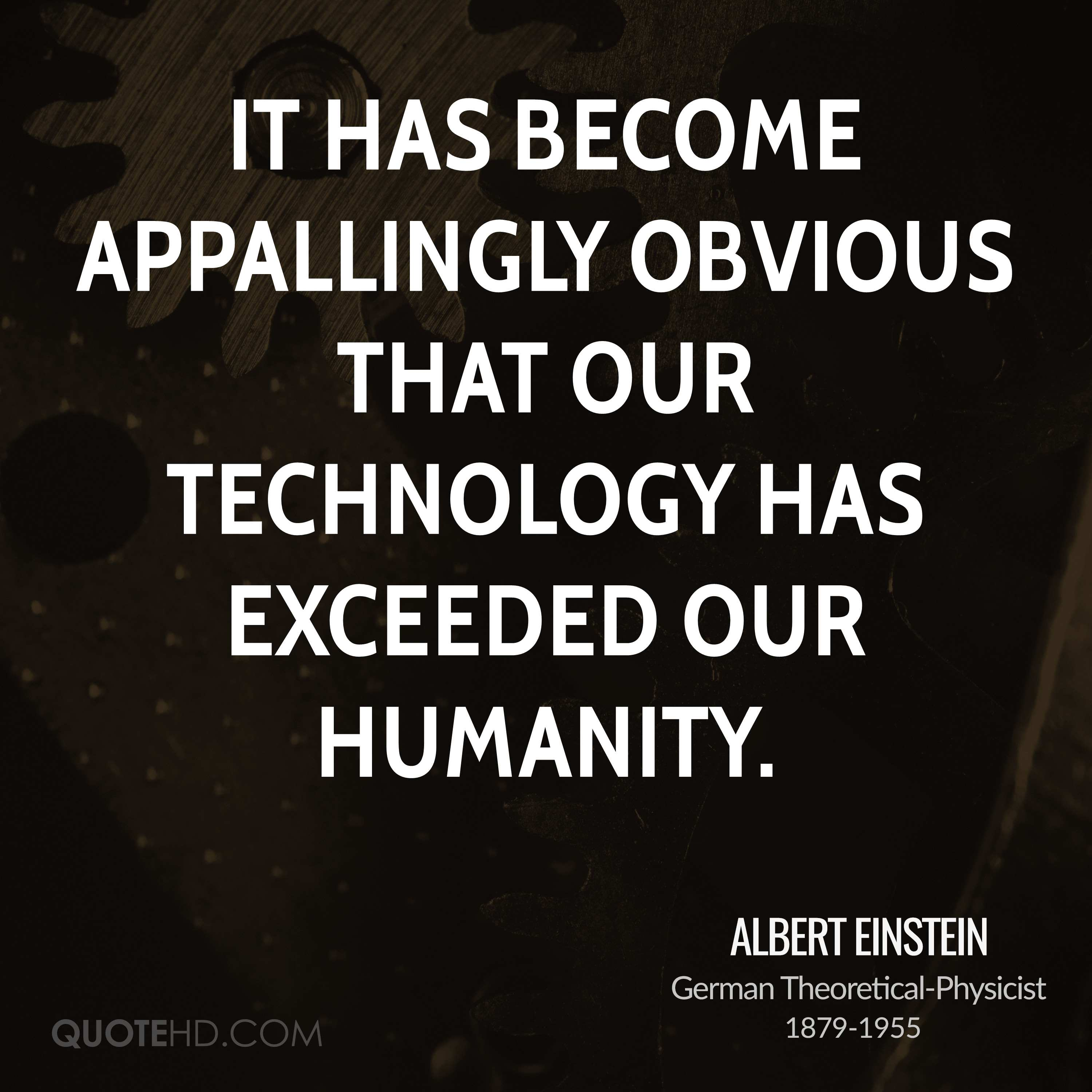 Quotes On Technology: Albert Einstein Technology Quotes