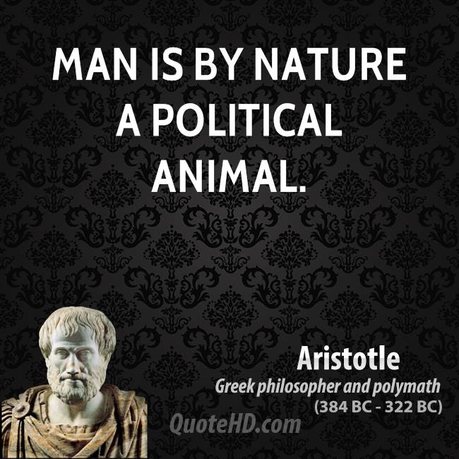 Man is a political animal (Meaning of Aristotle quote)