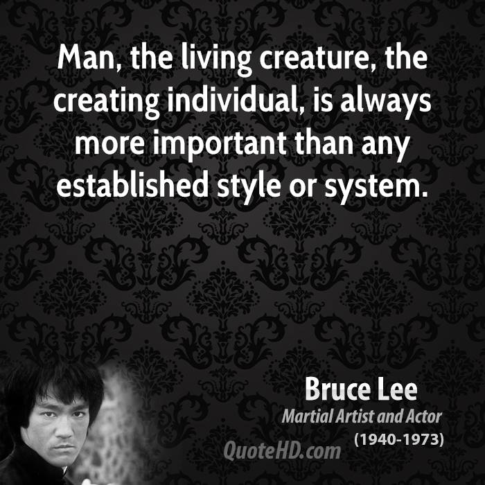 Man, the living creature, the creating individual, is always more ...