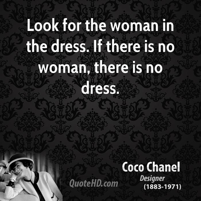 Look for the woman in the dress. If there is no woman, there is no dress.