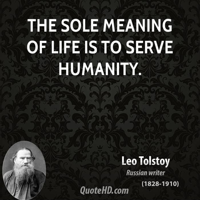 leo tolstoy on the meaning of life A confession by leo tolstoy searchable etext discuss with other readers in this book tolstoy examines the philosophical question of the meaning of life.