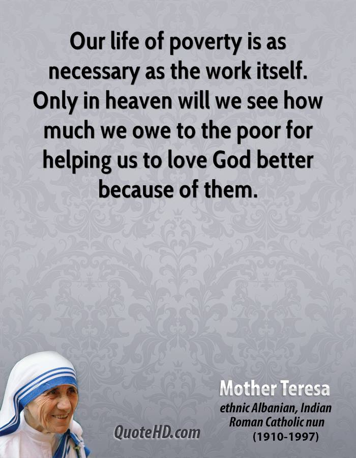 Poor Life Quotes Glamorous Mother Teresa Work Quotes  Quotehd
