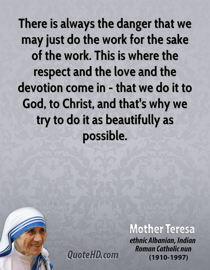 Mother Teresa Work Quotes Quotehd