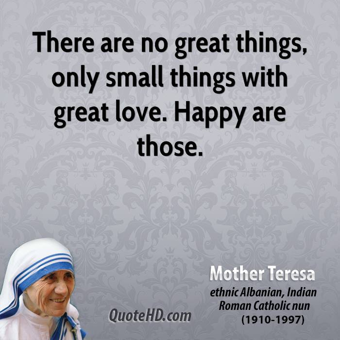 Small Great Things Quote: Mother Teresa Quotes Clip Art. QuotesGram