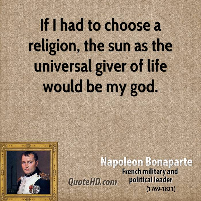 Napoleon Quotes On God Quotesgram