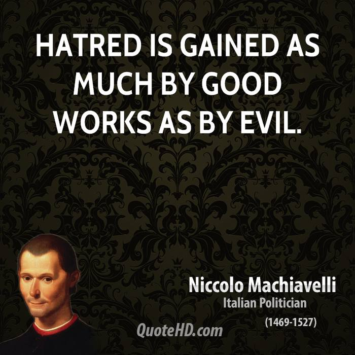 a report on the prince by niccolo machiavelli This 8 page report discusses niccolo machiavelli's 16th century classic the prince it is important to understand that there are certain key factors to be kept in mind in any analysis of niccolo machiavelli 's most famous work.