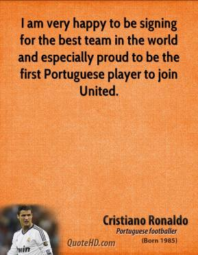 I am very happy to be signing for the best team in the world and especially proud to be the first Portuguese player to join United.