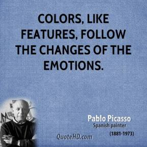 Colors, like features, follow the changes of the emotions.