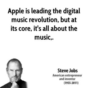 Apple is leading the digital music revolution, but at its core, it's all about the music.