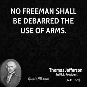 No freeman shall be debarred the use of arms.