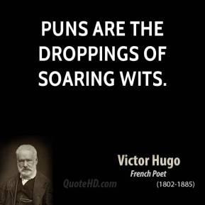 Puns are the droppings of soaring wits.
