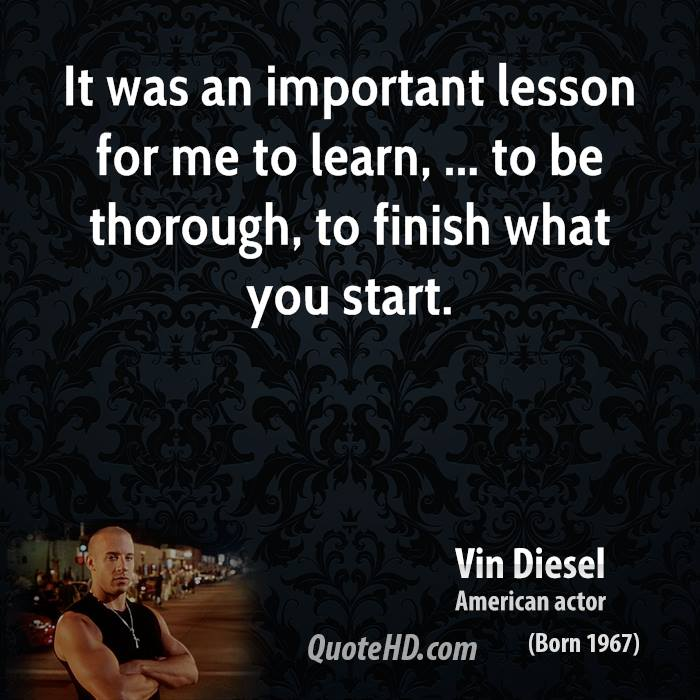 Major lesson to be learned from