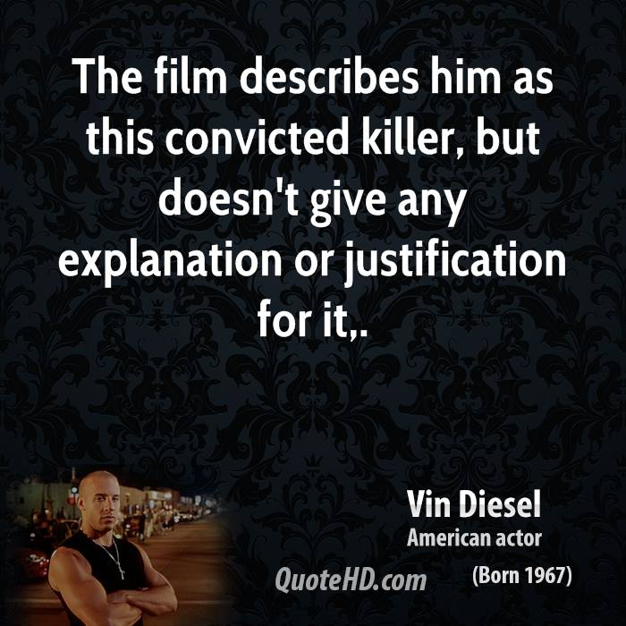 The film describes him as this convicted killer, but doesn't give any explanation or justification for it.