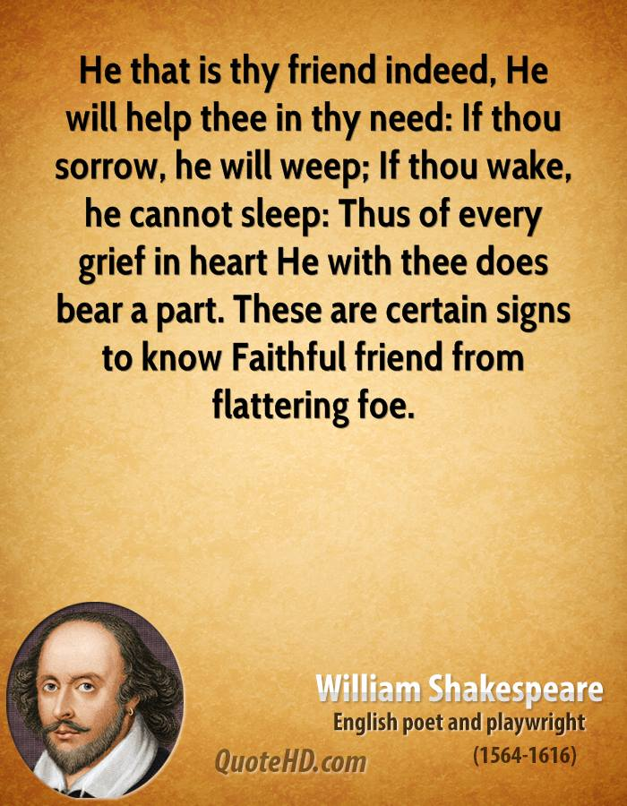 Great Shakespeare Quotes About Friends. QuotesGram