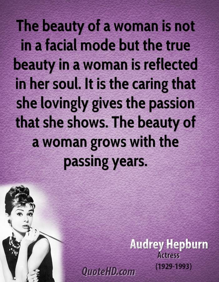 The Beauty Of A Woman Is Not In Facial Mode But True