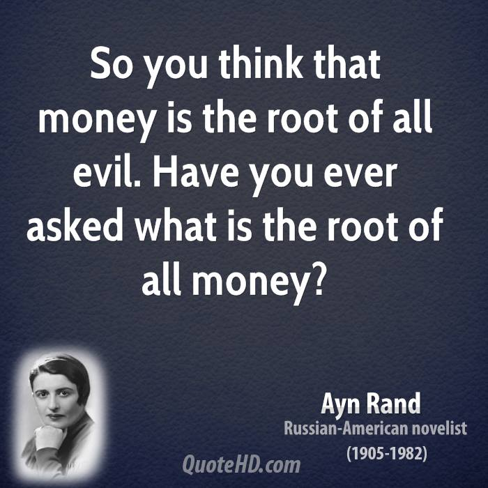 who said money is the root of all evil