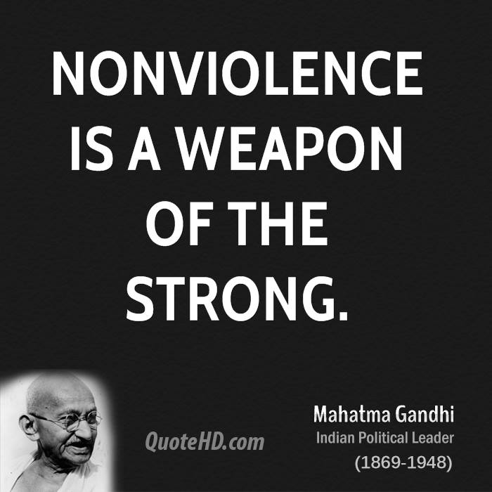 non violence gandhi essay Large collections of articles on and by gandhi on various issues, relevance of gandhi back you are here: articles truth let truth and non-violence by arvind sharma truth and nonviolence are generally considered to be the two key ingredients of gandhian thought it is possible to pursue one without the other it is.