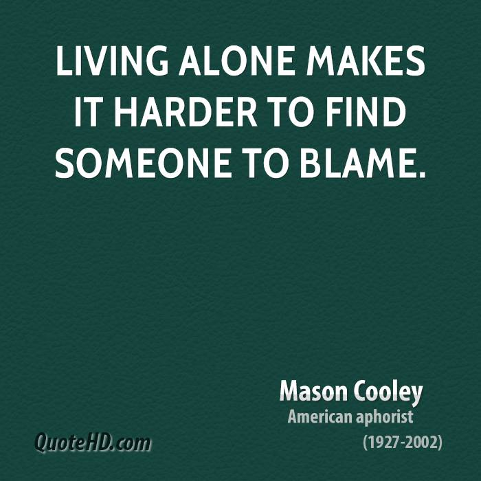 living alone quote 2 quotes