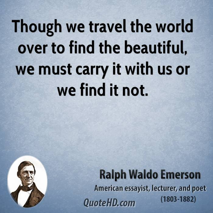 travel quotes ralph waldo emerson