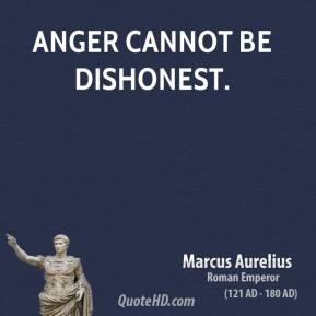 Anger cannot be dishonest.
