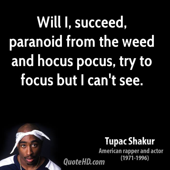 Will I, succeed, paranoid from the weed and hocus pocus, try to focus but I can't see.