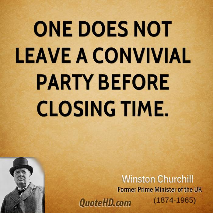 Closing Time Quotes: Winston Churchill Time Quotes