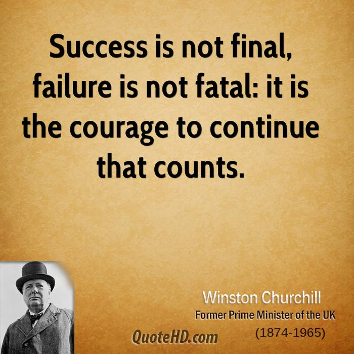 Inspirational Quotes About Failure: Winston Churchill Success Quotes