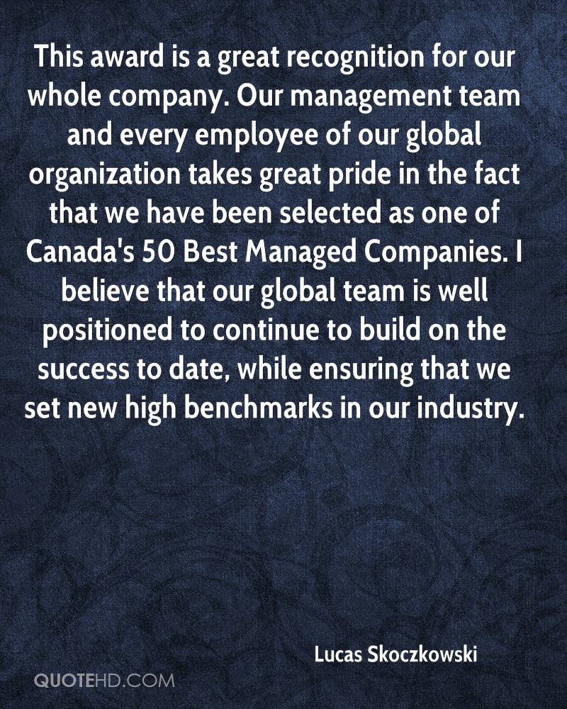 Employee Recognition Quotes Lucas Skoczkowski Quotes  Quotehd