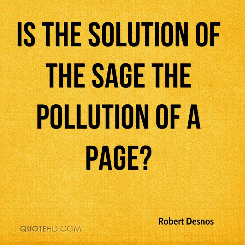 Is the solution of the sage the pollution of a page?