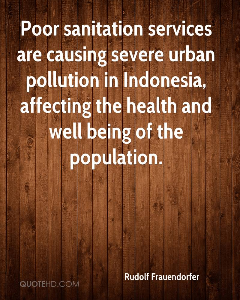 Poor sanitation services are causing severe urban pollution in Indonesia, affecting the health and well being of the population.