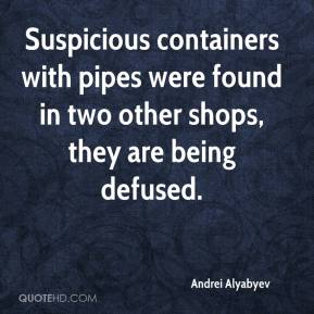 Andrei Alyabyev - Suspicious containers with pipes were found in two other shops, they are being defused.