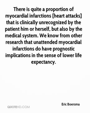 Eric Boersma - There is quite a proportion of myocardial infarctions [heart attacks] that is clinically unrecognized by the patient him or herself, but also by the medical system. We know from other research that unattended myocardial infarctions do have prognostic implications in the sense of lower life expectancy.