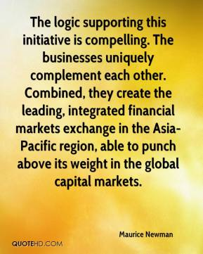 Maurice Newman  - The logic supporting this initiative is compelling. The businesses uniquely complement each other. Combined, they create the leading, integrated financial markets exchange in the Asia-Pacific region, able to punch above its weight in the global capital markets.