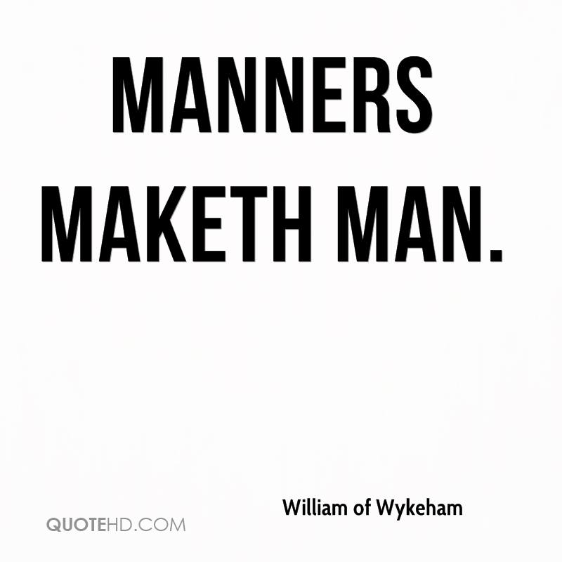 Essay On Manners