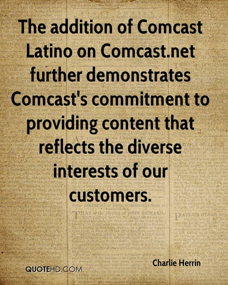 Comcast Quote Charlie Herrin Quotes  Quotehd