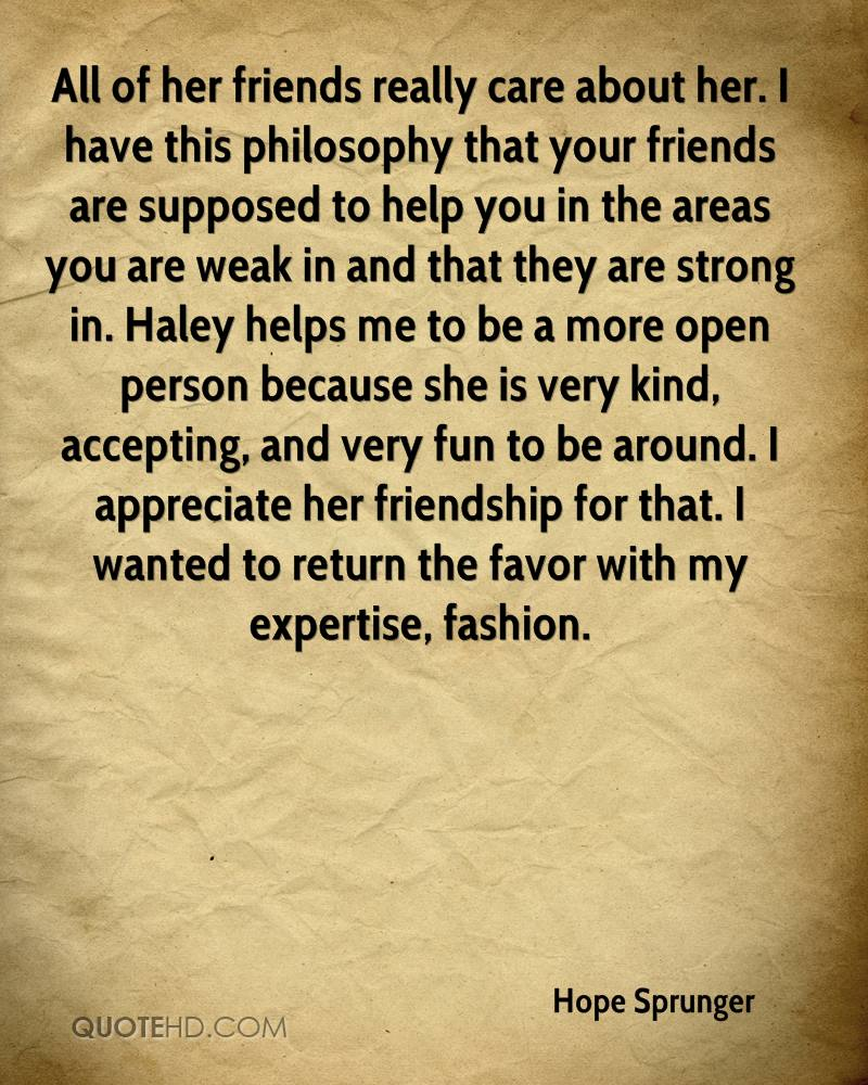 Philosophical Quotes About Friendship Hope Sprunger Friendship Quotes  Quotehd