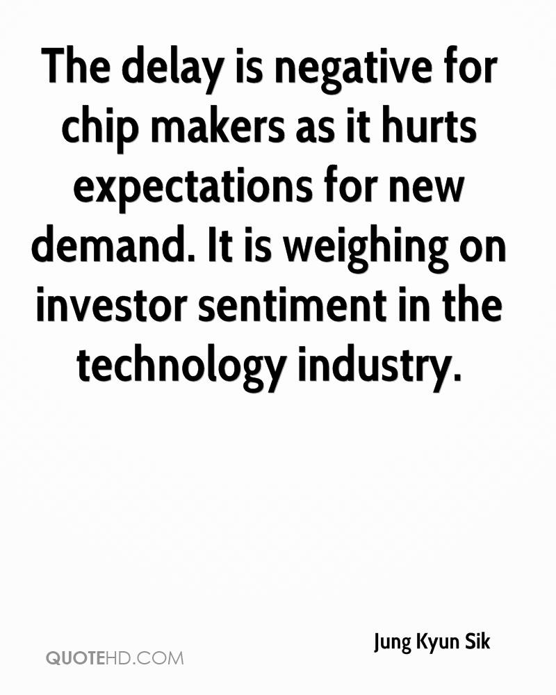 The delay is negative for chip makers as it hurts expectations for new demand. It is weighing on investor sentiment in the technology industry.