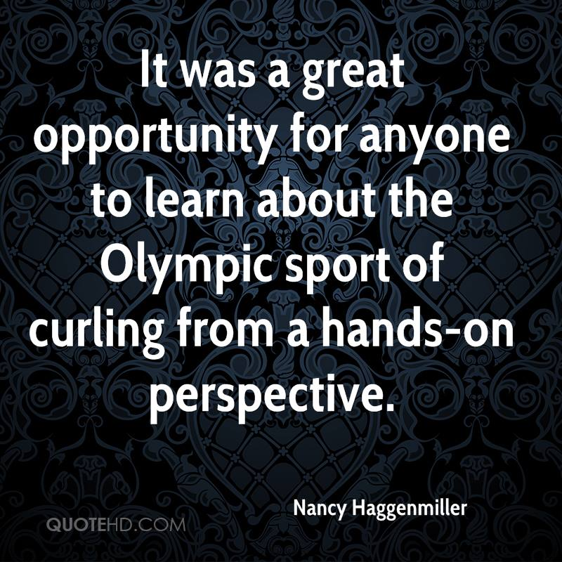 It was a great opportunity for anyone to learn about the Olympic sport of curling from a hands-on perspective.