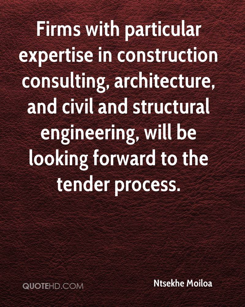 Firms with particular expertise in construction consulting, architecture, and civil and structural engineering, will be looking forward to the tender process.