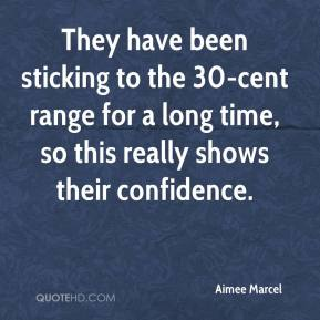 Aimee Marcel - They have been sticking to the 30-cent range for a long time, so this really shows their confidence.