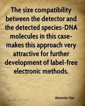 Alexander Star - The size compatibility between the detector and the detected species-DNA molecules in this case-makes this approach very attractive for further development of label-free electronic methods.