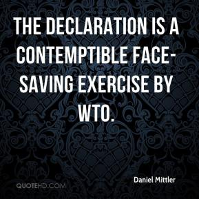 Daniel Mittler - The declaration is a contemptible face-saving exercise by WTO.