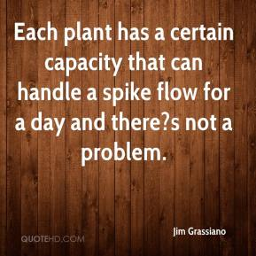 Jim Grassiano  - Each plant has a certain capacity that can handle a spike flow for a day and there?s not a problem.