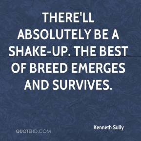 Kenneth Sully  - There'll absolutely be a shake-up. The best of breed emerges and survives.