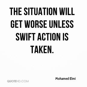 Mohamed Elmi  - The situation will get worse unless swift action is taken.