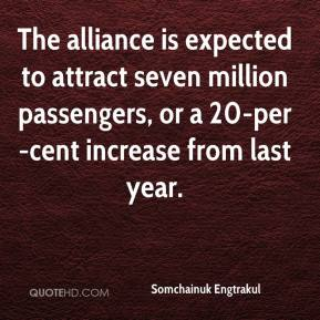 Somchainuk Engtrakul  - The alliance is expected to attract seven million passengers, or a 20-per-cent increase from last year.