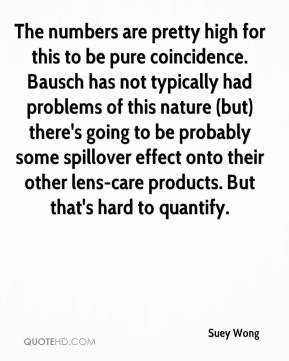Suey Wong  - The numbers are pretty high for this to be pure coincidence. Bausch has not typically had problems of this nature (but) there's going to be probably some spillover effect onto their other lens-care products. But that's hard to quantify.