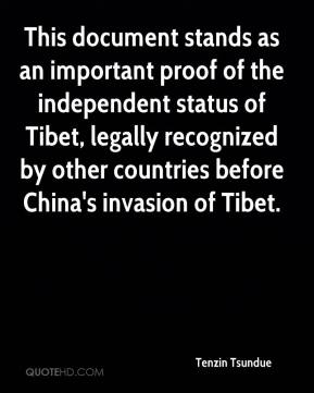 Tenzin Tsundue  - This document stands as an important proof of the independent status of Tibet, legally recognized by other countries before China's invasion of Tibet.