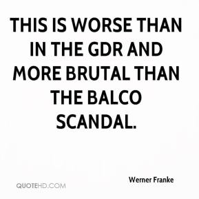 Werner Franke  - This is worse than in the GDR and more brutal than the BALCO scandal.