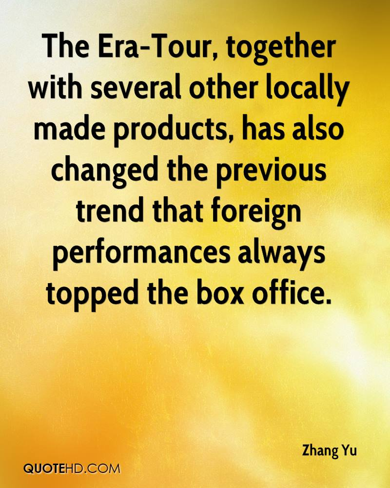 The Era-Tour, together with several other locally made products, has also changed the previous trend that foreign performances always topped the box office.
